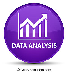 Data analysis (statistics icon) special purple round button