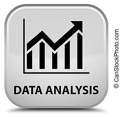 Data analysis (statistics icon) special white square button