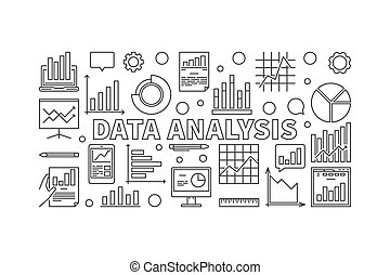 Data Analysis vector horizontal banner