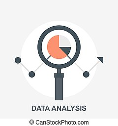 Data Analysis - Vector illustration of data analysis flat ...