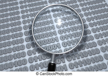 Data analysis with magnifying glass