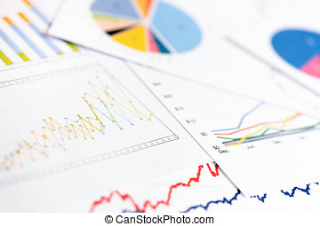 data analytics - business graphs and charts