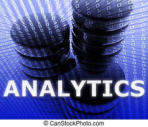 Data analytics illustration - Data analytics abstract,...