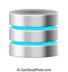 Data base icon. Illustration on white background