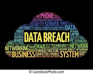 Data Breach word cloud collage