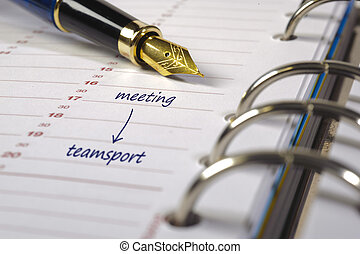 data, calendario, sport, riunione