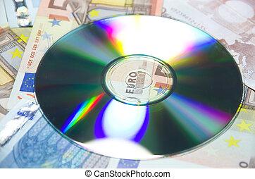 data, cd., penge