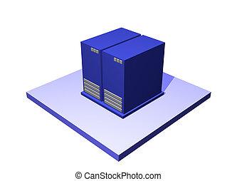 Data Center a Logistics Supply Chain Diagram Object