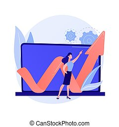 Data center abstract concept vector illustration. Colocation...