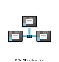 Data Center Access Icon Cloud Computer Connection Hosting Server Database Synchronize Technology