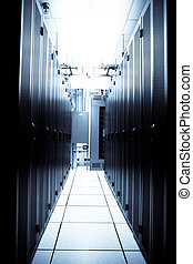 Data center - An interior shot of a technology data center
