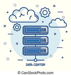 data center cloud connection hosting server computer information