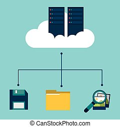 data center cloud floppy folder search picture