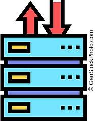 data center color icon vector illustration