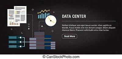 Data center concept banner for internet.