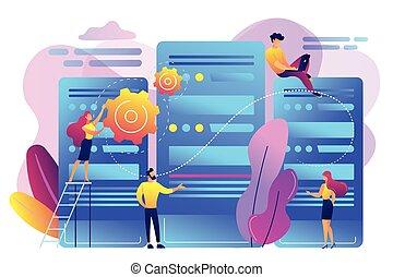 Data center concept vector illustration.