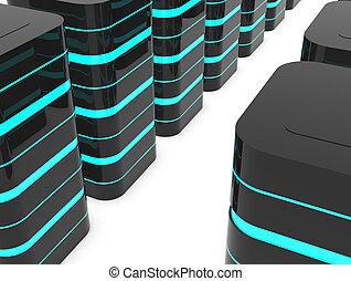 Data center - Database server room or data center