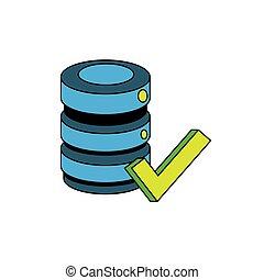 data center disk icon