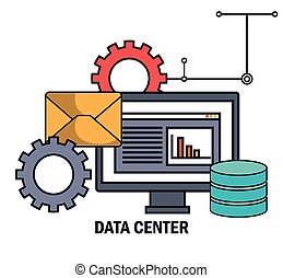 data center email work isolated