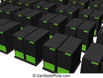 Data Center for Web Hosting Facility Isolated