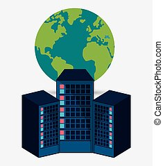 data center hardware process globe