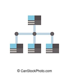 Data Center Icon Cloud Computer Connection Hosting Server Database Synchronize Technology