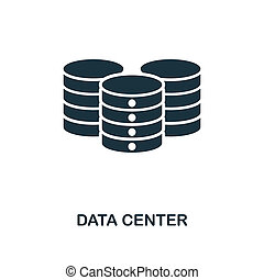 Data Center icon. Monochrome style design from big data icon collection. UI. Pixel perfect simple pictogram data center icon. Web design, apps, software, print usage.