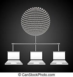 data center design, vector illustration eps10 graphic