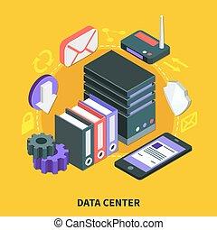 Data Center Isometric Design Concept