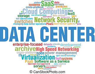 Data Center IT tech word cloud tags