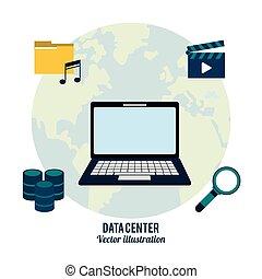 data center laptop search video music