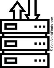 data center line icon vector illustration