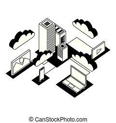 data center network icons