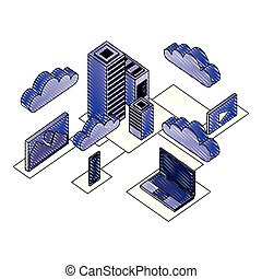 data center network icons