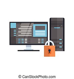 Data Center Protection Icon Hosting Server Security Database Technology