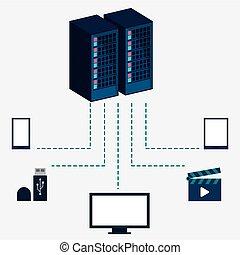 data center server equipment storage information