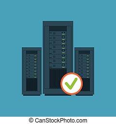data center server hardware computer system check