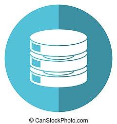 data center server network shadow blue circle
