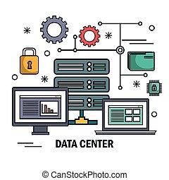 data center server technology digital isolated