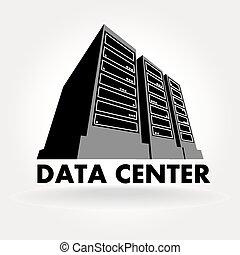 Data Center - stylized illustration of a data center, a...