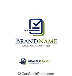 data check update logo - Data analytics, information...