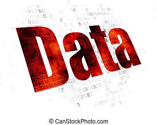 Data concept: Data on Digital background