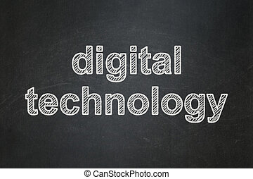 Data concept: Digital Technology on chalkboard background