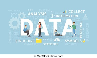 Data concept illustration.
