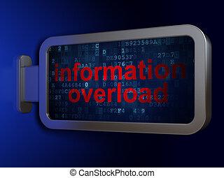 Data concept: Information Overload on billboard background
