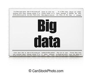 Data concept: newspaper headline Big Data