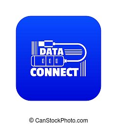 Data connect icon blue