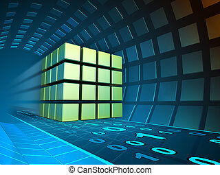 Data cube in a tunnel