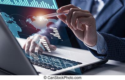 data, díla, obchodník, finanční machinace