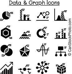 Data , diagram , graph chart icon set